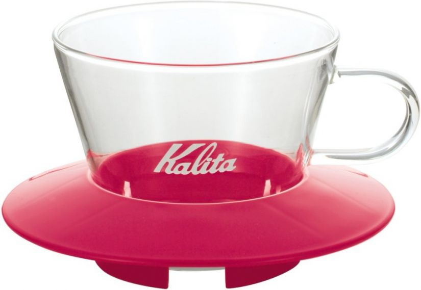 Kalita Wave #155 Glass Dripper lasinen suodatinsuppilo, pinkki
