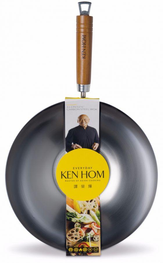 Ken Hom Everyday Carbon Steel Wok 31 cm