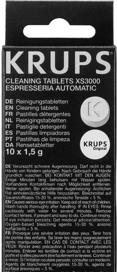 Krups XS3000 cleaning tablets 10 pcs