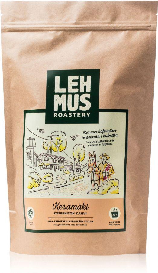 Lehmus Roastery Kesämäki kofeiinittomat kahvipavut 220 g