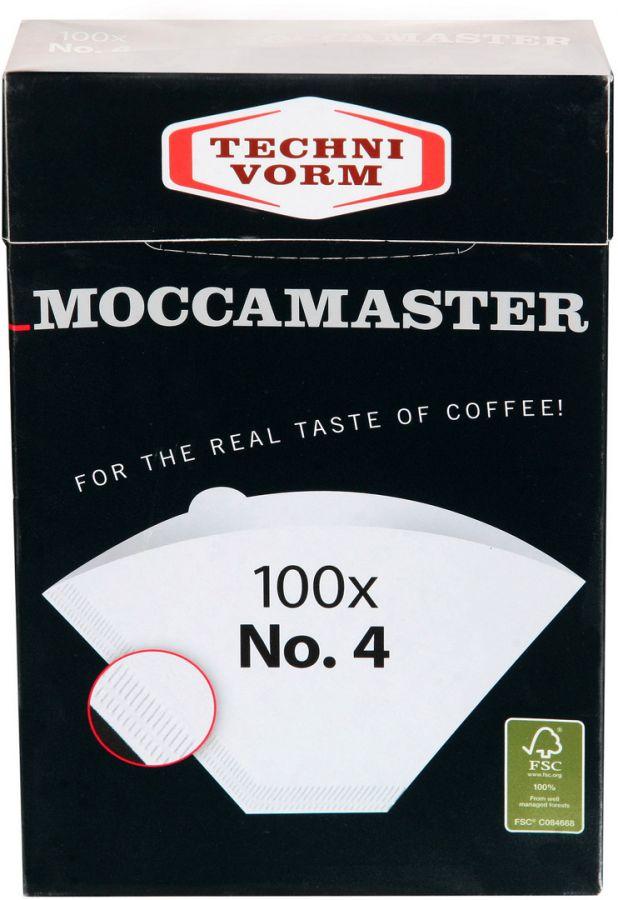 Moccamaster happivalkaistu suodatinpaperi No. 4 100 kpl