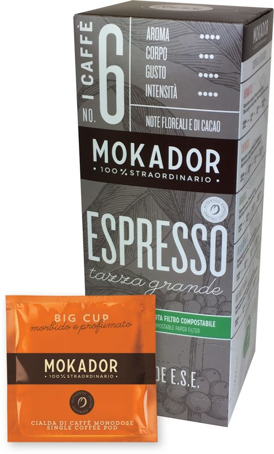 Mokador Big Cup Tazza Grande espresso pods 20 st