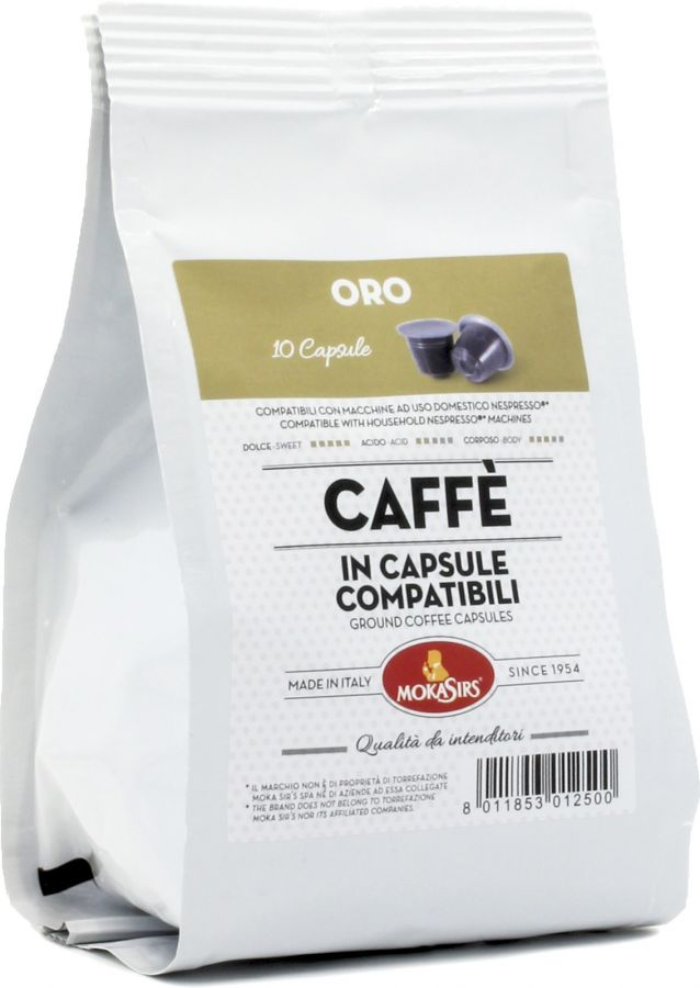 Mokasirs Oro Nespresso-kompatibel kaffekapsel 10 st.