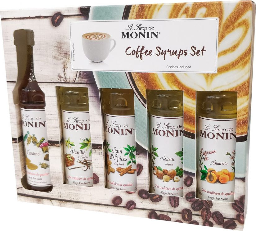 Monin Coffee Set 5 x 50 ml Syrups