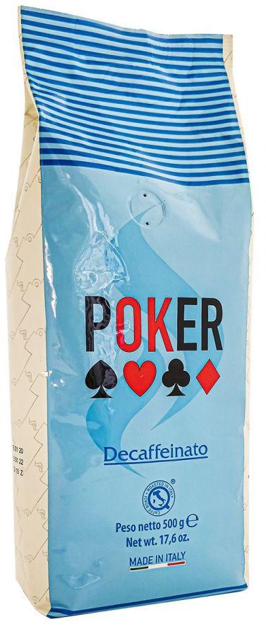Poker Decaffeinato kofeiinittomat kahvipavut 500 g