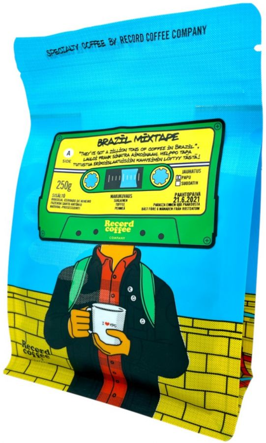 Record Coffee Company Brazil Mixtape 250 g kahvipavut