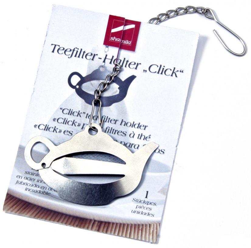 Shamila metallinen klipsi paperiselle teepussille