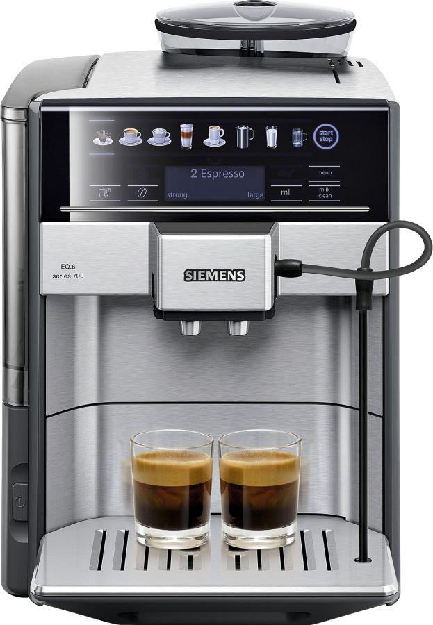 Siemens EQ.6 Series 700 -kahviautomaatti, teräs