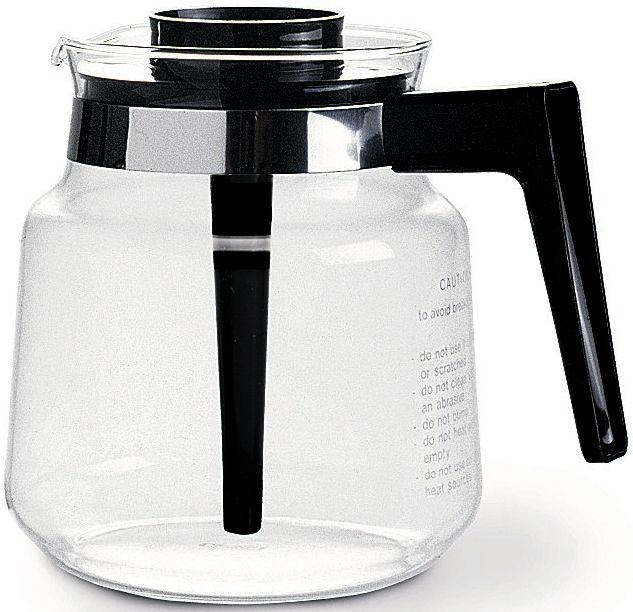 Moccamaster glaskanna med svart lock för KB-seriens kaffebryggare
