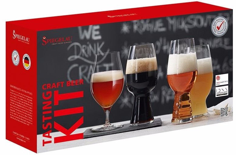 Spiegelau Craft Beer Tasting Kit: IPA, American Wheat Beer, Stout ja Barrel Aged Beer