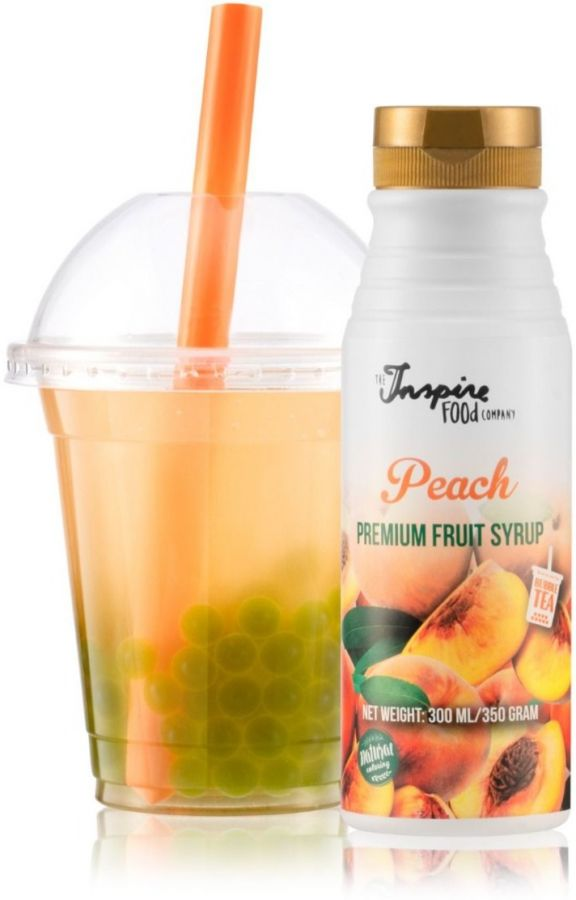 TIFC  Bubble Tea Syrup Peach 300 ml