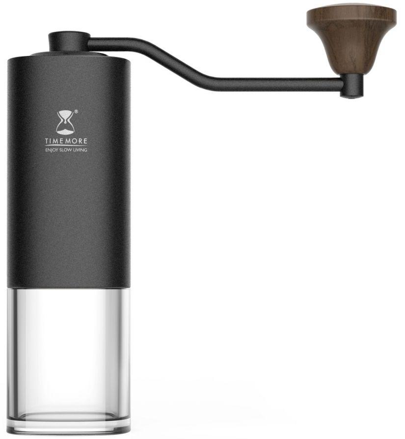 Timemore Chestnut käsikäyttöinen kahvimylly, musta/kirkas säiliö