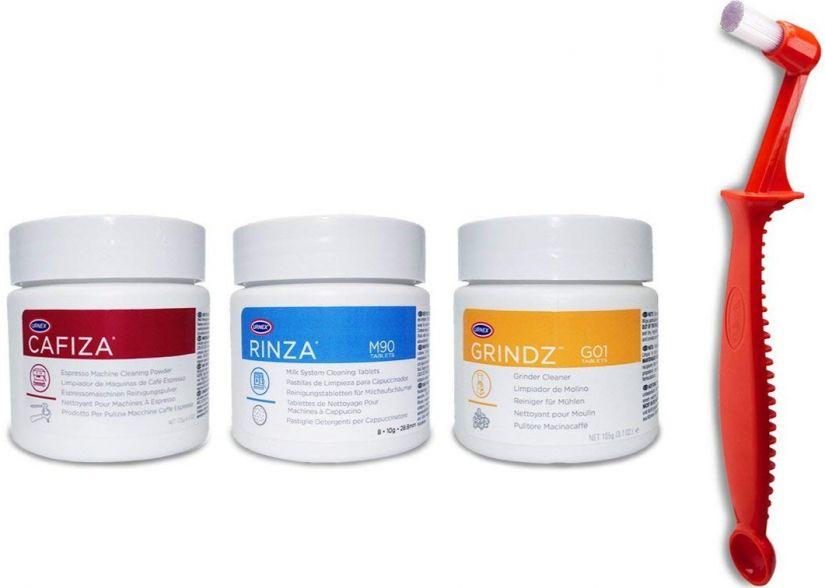 Urnex Café Starter Kit, rengöringsset för kaffeutrustning