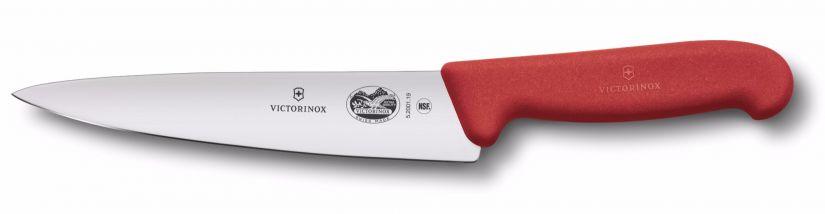 Victorinox Fibrox kokkiveitsi 19 cm, punainen
