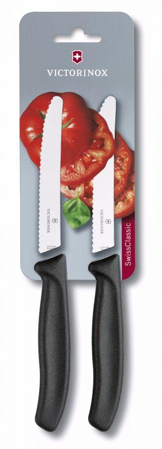 Victorinox Swiss Classic Tomato Knife 11 cm 2 pcs, Black