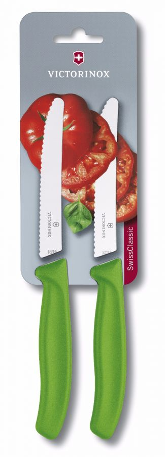 Victorinox Swiss Classic Tomato Knife 11 cm 2 pcs, Green