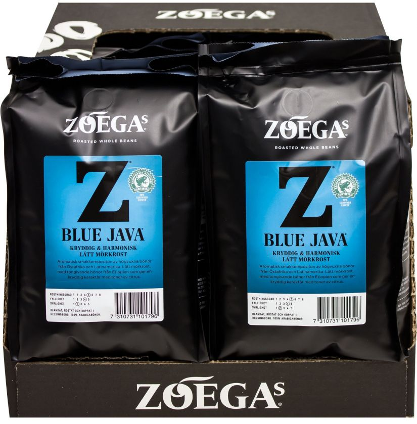 Zoégas Blue Java 8 x 450 g kahvipavut tukkupakkaus