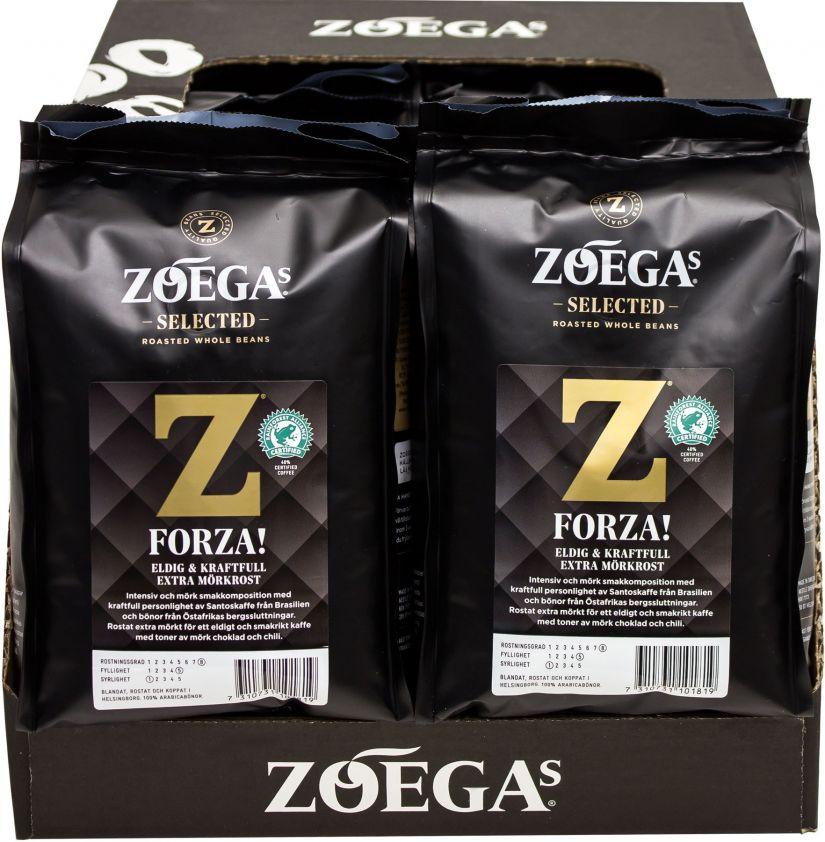 Zoégas Forza! 8 x 450 g kahvipavut tukkupakkaus