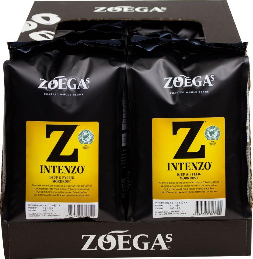 Zoégas Intenzo 8 x 450 g kahvipavut tukkupakkaus