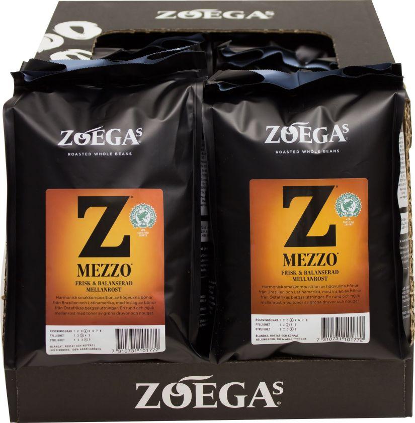 Zoégas Mezzo 8 x 450 g kahvipavut tukkupakkaus