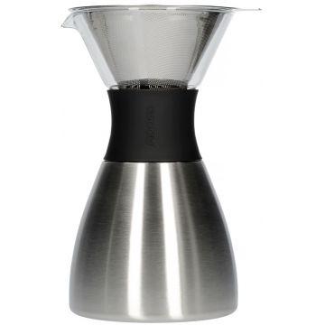 Asobu PourOver-PO300 Insulated Coffee Maker 1l, hopea/musta