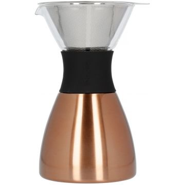Asobu PourOver-PO300 Insulated Coffee Maker, kupari/musta