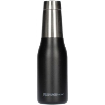 Asobu Oasis Water Bottle 600 ml, musta