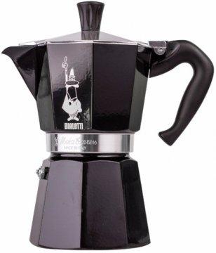 Bialetti Moka Express 3 cup Stovetop Espresso Maker, Black