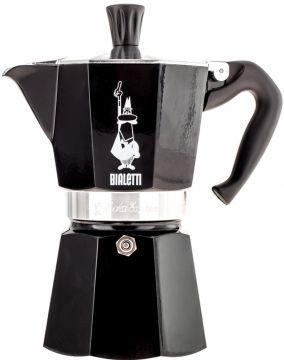 Bialetti Moka Express 6 cup Stovetop Espresso Maker, Black