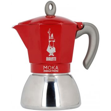 Bialetti Moka Induction Red 6 kupin mutteripannu