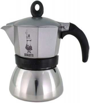 Bialetti Moka Induction Anthracite 3 kupin mutteripannu
