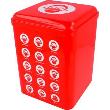 Blömboom Metal Can, Red
