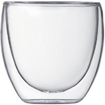 Bodum Pavina dubbelväggade glas 80 ml, 2 st.