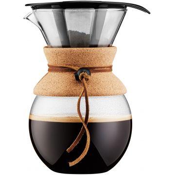 Bodum Pour Over 8 kupin kahvikannu suodattimella 1000 ml