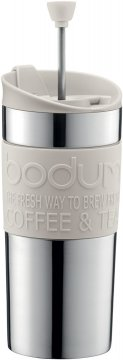 Bodum Travel Press resemugg med pressofunktion 350 ml, vit