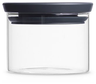 Brabantia glass jar with grey lid, 0.3 litres