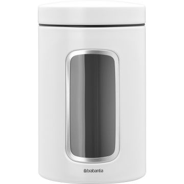 Brabantia storage canister with window 1,4 litres, white