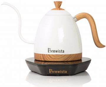 Brewista Artisan Variable Gooseneck Temperature Electric Kettle 600 ml, Pearl White