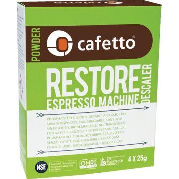 Cafetto Restore ekologinen kalkinpoistojauhe 4 x 25 g pussi