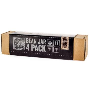 Comandante Bean Jar 4 Pack, ruskea lasi