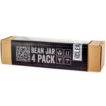 Comandante Bean Jar 4 Pack, kirkas lasi