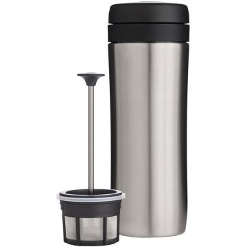 Espro Coffee Travel Press termospressmugg 350 ml, borstat stål