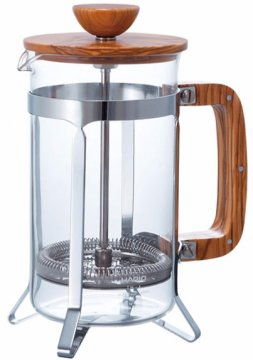 Hario Cafe Press Olive Wood 600 ml French Press