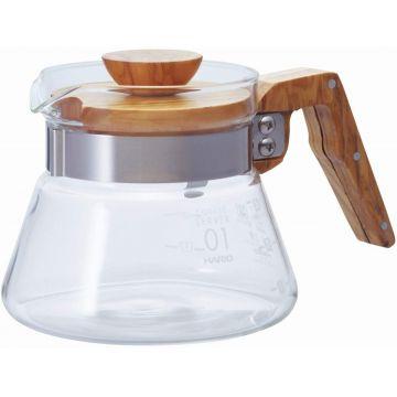 Hario Coffee Server Olive Wood kahvikannu koko 01, 400 ml