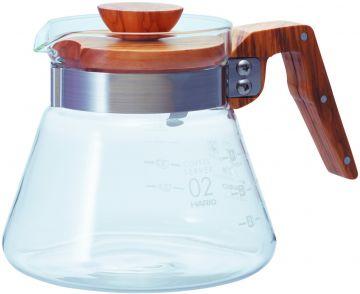 Hario Coffee Server Olive Wood kahvikannu koko 02, 600 ml