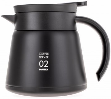 Hario V60 02 Insulated Stainless Steel Server 600 ml, musta
