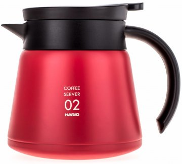Hario V60 02 Insulated Stainless Steel Server 600 ml, punainen