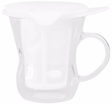 Hario One Cup Tea Maker 200 ml, white