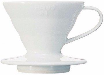 Hario V60 01 Ceramic Coffee Dripper, white