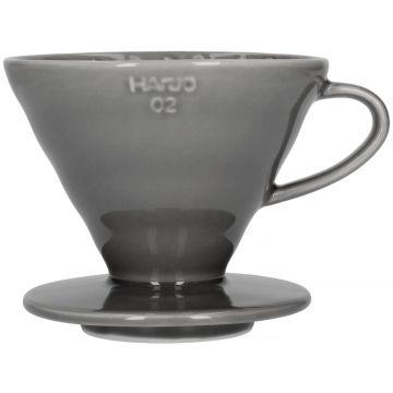 Hario V60 Dripper koko 02 keraaminen suodatinsuppilo, harmaa